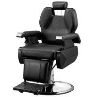 Waco tüm amaçlı hidrolik lüks berber sandalye, barberpub mobilya, deri saç salonu güzellik spa styling ekipmanları modern şampuan sandalyeler - siyah