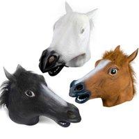 Korku atı Nefes Yenilik Tam Yüz Baş Cadılar Bayramı Masquerade Fantezi Elbise Festivali Parti Dekorasyon SN1410 Maskesi Maske Lateks