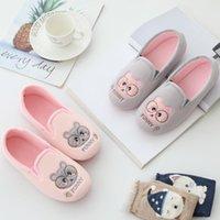 Millffy Kawaii rosa graue Bär Schuhe Frau Slippers für Mädchen Indoor Hause Schuhe Warm Haus weiche bequeme Damen Hausschuhe