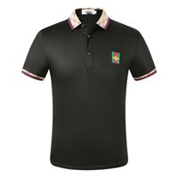 ww printemps Italie chaud T-shirt T Medusa Polos High Street broderie Little Bee couleuvres rayées impression Vêtements pour hommes Marque Polo