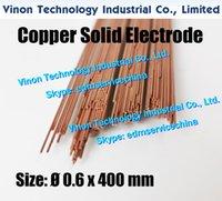 0.6x400MM cuivre massif électrode (200pcs / lot), solide en cuivre Rod EDM électrode Dia. = 0,6 mm Longueur = 400 mm utilisé pour Électroérosion Usinage