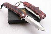 Herramientas de jabalí dragón rojo D2 supervivencia que acampa plegable del cuchillo del regalo del cuchillo al aire libre del regalo de Navidad cuchillos A1140