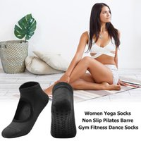 Горячей Продажа Спортивных носков Деликатного дизайна дышащий Женщина Йог носки Non силиконового Пилатес Барра Gym Фитнес