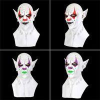 Бесплатная доставка Хэллоуин новый желтый маленький призрак маска головной убор Demon клоун вампир орк маски Хэллоуин день рождения смешно маска F2803