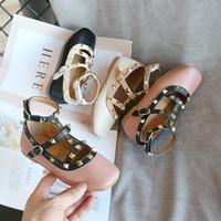 أطفال برشام الفتيات جلد الفم مربع الأحذية الرومانية بو، الصبية الصغار، الأميرة SMG035 أسفل لينة