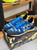 2020 new camo suede studded camouflage rock runner sneaker s...