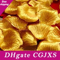 Hot Sell Gold Silver Satin Rose Petals Wedding Engaged Flowers Favors Decoration Flowers Petals Wedding Supplies