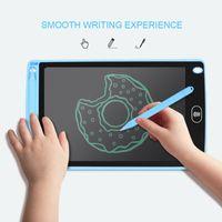 المحمولة 8 بوصة LCD مجلس الكتابة اللوحي رقيقة جدا رسم الالكترونية قابلة لإعادة الاستخدام الكتابة اليدوية الوسادة مع قلم محو زر