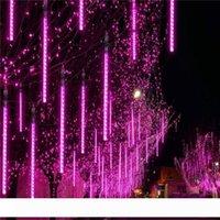 30 cm 50 cm 80 cm Açık Meteor Duş Yağmur 8 10 Tubes Noel Düğün Parti Dekorasyon Crestech Için LED Dize Işıkları Su Geçirmez