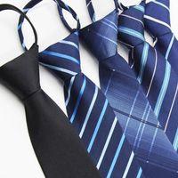 cerniera Tie l'uomo non c'è bisogno di colpire un professionista completo facile da tirare il matrimonio lo sposo pigro Zipper Tie KKA8070