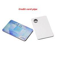 Tuyau Carte de crédit pipe à la main Spécialité Herb Pocket tabac Portable pipe main fumeurs Accessoires Livraison gratuite