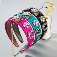Baroque cristallo variopinto fascia per la donna Vintage perla simulata Bumble Bee tessuto dei capelli della fascia sposa Wedding Accessori per capelli