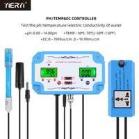 Ph / EC / EC / TEMP تستر متر جودة المياه كاشف الرقم الهيدروجين تحكم التتابع المكونات REALEALE ELECTRODE BNC نوع التحقيق بنا الاتحاد الأوروبي التوصيل