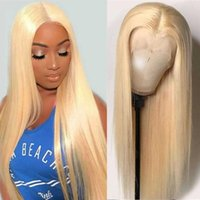 180% Straight 613 Парик фронта шнурка Honey Blond фронта шнурка человеческих волос парики T Часть 613 Фронтальная парик Remy Hd Прозрачный бразильский