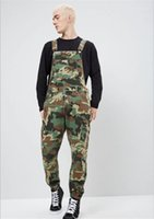 Overalls Designer Printed Jeans Overalls Mode schlanke Männlich Kleidung Camouflage Denim Herren