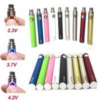 EVOD torção Vape Battery 510 Tópico eGo vaporizador Pen 650 900 mah eCig Battries Popular Tensão ajustável cigarro eletrônico Vape caneta