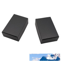 Black Kraft Paper Packing Box for Jewelry Ornaments Accessor...