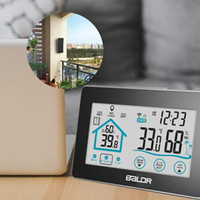 اللاسلكية في الهواء الطلق في الهواء الطلق داخلي الرطوبة متر قياس محطة الطقس، الرطوبة الرقمية ميزان الحرارة barmeter ساعة جدار ديكور المنزل هدية