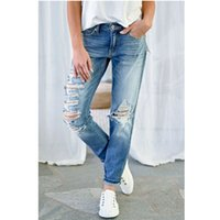 New fashion Hole Ripped women jeans skinny Slim Pencil Jeans...