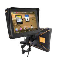 Moto Navigazione GPS GPS dello schermo di tocco di 7 pollici navigatore impermeabile di memoria interna da 8 GB 256Mb Senza Bluetooth Parasole Visor