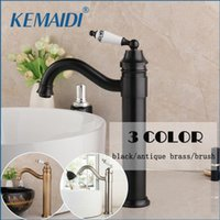 KEMAIDI ORB Black Bathroom Basin Faucets Ceramic Single Hand...