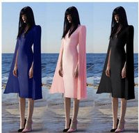 Elegant Evening Formal Dresses Queen Slim Robe Long Sleeved Crew Neck Pencil Dresses Designer Women Prom Dresses Solid Color