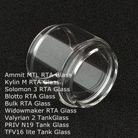 Yağ Tankı DHL lite ammit MTL Kylin M Solomon 3 Blotto Toplu Widowmaker RTA Valyrian 2 PRIV N19 TFV16 için Yedek Ampul Cam Tüp uzatın