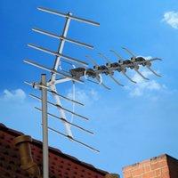 Deleites de satélite Double-Head Balck Wire Antena Dovetail Guia Digital Sinal 90 Milhas com Black Stand Nova Chegada
