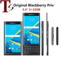 تم تجديده الأصلي BlackBerry Priv 5.4 بوصة Hexa Core 3GB RAM 32GB ROM 18MP كاميرا مقفلة 4G LTE الهاتف الذكي