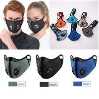 Masque anti-poussière Masque en plein air Couverture de la bouche en plein air Anti-brouillard Hommes Femmes Adultes Vélo Vélo Masque Vélo Sports anti-poussière pour joggin