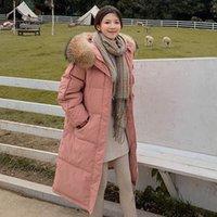 2020 neue Frauen-Brot-Kleidung Winter-heißen Verkauf-Warm lose große Größe Lange schicke Frauen Daunenjacke mit Kapuze