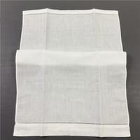 Ensemble de 12 Textile Mode lin blanc Torchon -14 « x22 » Tissu Serviettes de main invités Salle de bain Cuisine vaisselle brodés ajourés