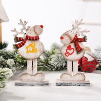 Christmas Reindeer Desktop Decoration Ornaments Xmas Letter ...