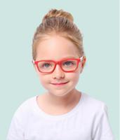 Moda Güneş Gözlüğü Çerçeveleri Kare Anti-Mavi Işık Silikon Gözlük Marka Çocuk Yumuşak Çerçeve Gözlük Düz Çocuk Göz Şöhret Koşu