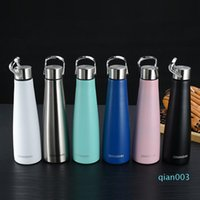 500ML Cola Shaped Bottle with Handle Stainless Steel Water B...
