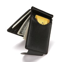 Clipe Coreia do Sul Estilo Dinheiro Men bolsa carteira ultrafinos Magro Carteira Mini Hasp couro ID Business Case