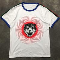 Mens Fashion T Shirt 2020 rua famoso alta cabeça do tigre Imprimir Pullover Polos de manga curta Camisas Homens Mulheres Casais Estilo Hip Hop T