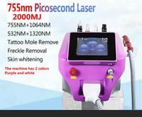 Pico PicoseCond Laser ND Yag Pigment Tattoo Macchina per la rimozione del tatuaggio 4 lunghezza d'onda 532nm 755nm 1064nm 1320nm Cura della pelle