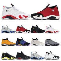 Los nuevos Mens Zapatos de la zapatilla de baloncesto 14s del dedo del pie blanca Hyper Real Gimnasio Universidad de Oro Rojo Negro de arena del desierto deportes para hombre zapatillas de deporte al aire libre