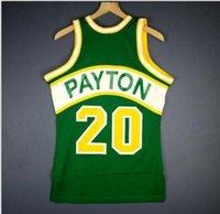 Erkekler Gençlik kadınlar Vintage Gary Payton Mitchell Ness 94 95 Koleji basketbol Jersey Boyut veya özel herhangi bir ad veya numara formayı-5XL S