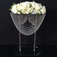 Romantik Düğün Akrilik Düğün Centrepiece Çiçek Standı Pillar süslemeler Parti Süsleri Olay Dekor