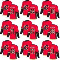 2018 Nuevo proveedor Mens Garnet Hathaway 44 Matt Bartkowski 71 Hunter Smith 10 Kris verseeg 67 Michael Frolik Calgary Llamas de Hockey Jerseys