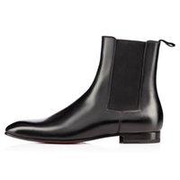 Moda elegante Business Designer in pelle da uomo nero stivali cavaliere High Top Red Stivali inferiore, Flat Stivaletti Casual Shoes