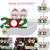 Быстрая доставка Карантин Новогоднего украшение рождения партии подарки День товары персонализированных семья из 4 Украшения Pandemic социального дистанцирования