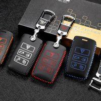 Torba Klucz Car Top Layer Leather Key Cover 2015-2020 dla Range Rover Velar Sport Landrover Odkrywanie 5 Samochodów Klucz Uchwyt Case Car Acce