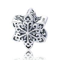 925 تقدرج الفضة ندفة الثلج سحر صالح باندورا سوار للبنات كريستن هدية سحر عالية البولندية خمر