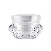 15g Diamond Style Pot Acryl Cosmetic Leere Glas Lidschatten Make-up Gesichtscreme Lippenbalsam Container Probenflasche Verpackung AHC1105
