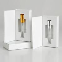 3ML 5ML 10ML frasco de vidro de perfume Atomizador Parfum garrafa spray com caixa de embalagem cosmética Amostra Vial recarregáveis garrafas