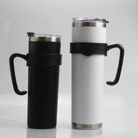 20온스 30온스 마른 텀블러에 대한 balck의 핸들 스테인레스 스틸 마른 컵 홀더 30온스 휴대용 플라스틱 홀더 20온스를 처리