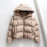 Donne down parkas inverno donna con cappuccio donna giacca calda in cotone imbottito grande taglia cappotto addensante donne casual puleforte